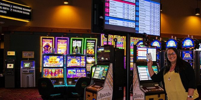 Sports betting area at The Mill Casino